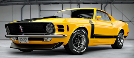 Boss 302 Yellow
