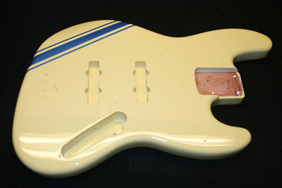 Vintage Cream with Blue Comp Stripes