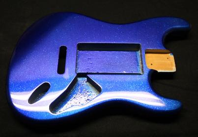 Cobalt Blue Metal Flake Guitar