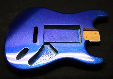 Cobalt Blue Metal Flake Strat Body