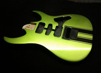 Kand Lime with Black Racing Stripes