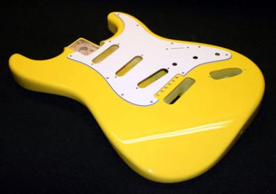 Bright Yellow Fender Stratocaster