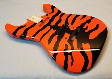Molly Orange Tiger Guitar