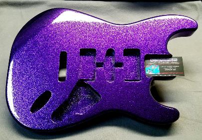 Deep Purple Metal Flake Strat Body