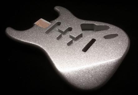 Silver Metal Flake Guitar